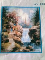 Отдается в дар Вышивка «Идиллический водопад»