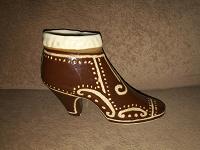 Отдается в дар Керамика туфелька- вазочка
