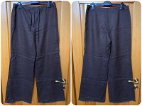 Отдается в дар Льняные брюки. Размер 48-50