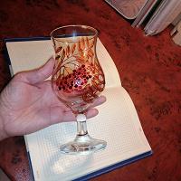 Отдается в дар Бокал с витражной росписью