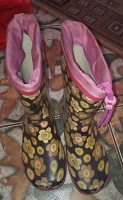 Отдается в дар Резиновые сапоги для девочки 34 р.