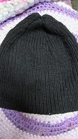 Отдается в дар Вязанная черная шапка