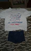 Отдается в дар футболка + шорти