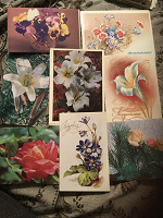 Отдается в дар Открытки Цветы