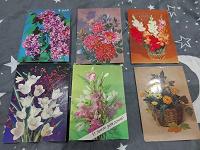 Отдается в дар Открытки с цветами