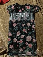 Отдается в дар Легкое летнее платье с цветочным принтом