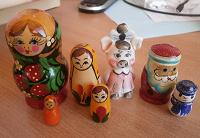 Отдается в дар Маленькие матрёшки и другие сувениры