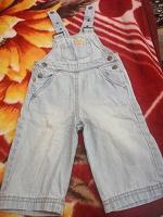 джинсовый детский комбинезон