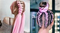 Отдается в дар Розовые искусственные волосы