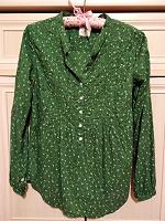Отдается в дар Блузка-рубашка зелёная, 36 евр.