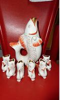 Отдается в дар Раритет из СССР. Рыбы фарфор.