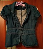 Отдается в дар Летний джинсовый пиджачок 40-42
