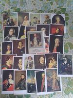 Отдается в дар Наборы открыток: живопись, портреты.