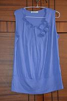 Отдается в дар Сиреневая блуза с коротким рукавом