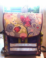 Отдается в дар Ранец, портфель, рюкзак для девочки.