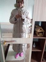 Отдается в дар Длинное тёплое прямое пальто размер 46-50 на высокий рост.
