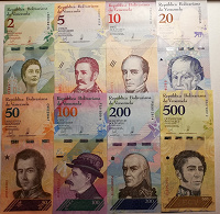 Отдается в дар Банкноты Венесуэлы 2018