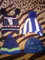 Отдается в дар Детские теплые шапки