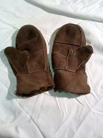 Отдается в дар Теплые замшевые рукавички на маленькую ручку