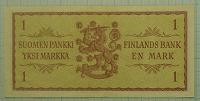 Отдается в дар Банкнота 1 марка. Финляндия 1963 г.