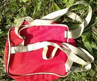 Отдается в дар Детский красный рюкзак