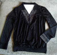 Отдается в дар Блуза с кружевами на 48 размер.