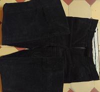 Отдается в дар Черные вельветовые брюки S