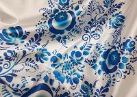 Отдается в дар Ткань для скатерти в стиле «гжель»