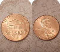 Отдается в дар Монета 1 цент сша, 2018