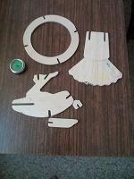 Отдается в дар Детали от деревянного конструктора и игрушечный секундомер