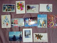 Отдается в дар чистые новогодние открытки СССР