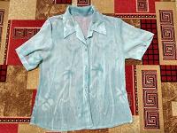 Отдается в дар Блузка голубая полупрозрачная с коротким рукавом48