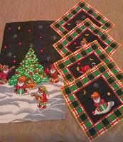 Отдается в дар набор полотенце и 4 салфетки