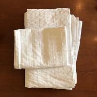 Отдается в дар Пододеяльник + наволочка белые из IKEA