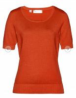 Отдается в дар Оранжевый пуловер с коротким рукавом