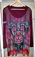 Отдается в дар Блуза с розами, большой размер