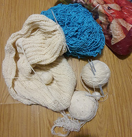Отдается в дар Пряжа нитки вязание спицы