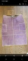 Отдается в дар Натуральная замшевая юбка, размер 48