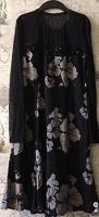 Отдается в дар черное платье с цветочным принтом 44–46 (M)