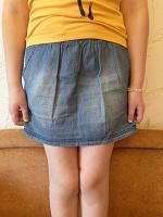 Отдается в дар Тонкая джинсовая юбка ХS-S