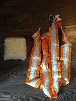 Отдается в дар Свадебные ленты на капот, подушечка для обручальных колец