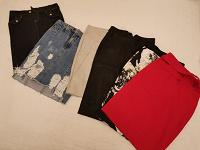 Отдается в дар Юбки, размер XS, джинсах, кожзам, полиамид