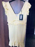 Отдается в дар Лимонное платье 14/42 размера, нюанс
