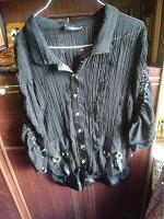Отдается в дар Лёгкая блуза. Размер евро 50. На наш 58-60.