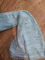Отдается в дар шарф голубой
