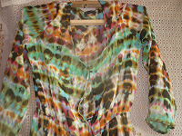 Отдается в дар Шелковое платье –кардиган 42 размер