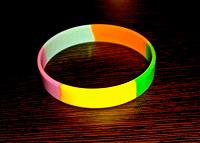 Отдается в дар Браслет силиконовый-радуга