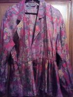 Отдается в дар Шелковая блуза с баской 56-58