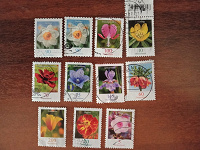 Отдается в дар Марки цветы немецкие стандарты
