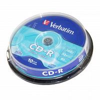 Отдается в дар Диски CD-R Verbatim Cake Box DL (43437) 700Mb 52x